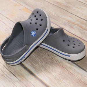 Crocs | Unisex Kids Gray Crocband Clogs Size 10-11